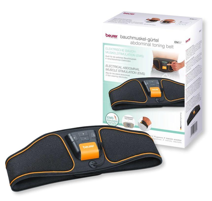 La cintura per elettrostimolazione addominale EMS Beurer EM 37 così come vi arriverà a casa