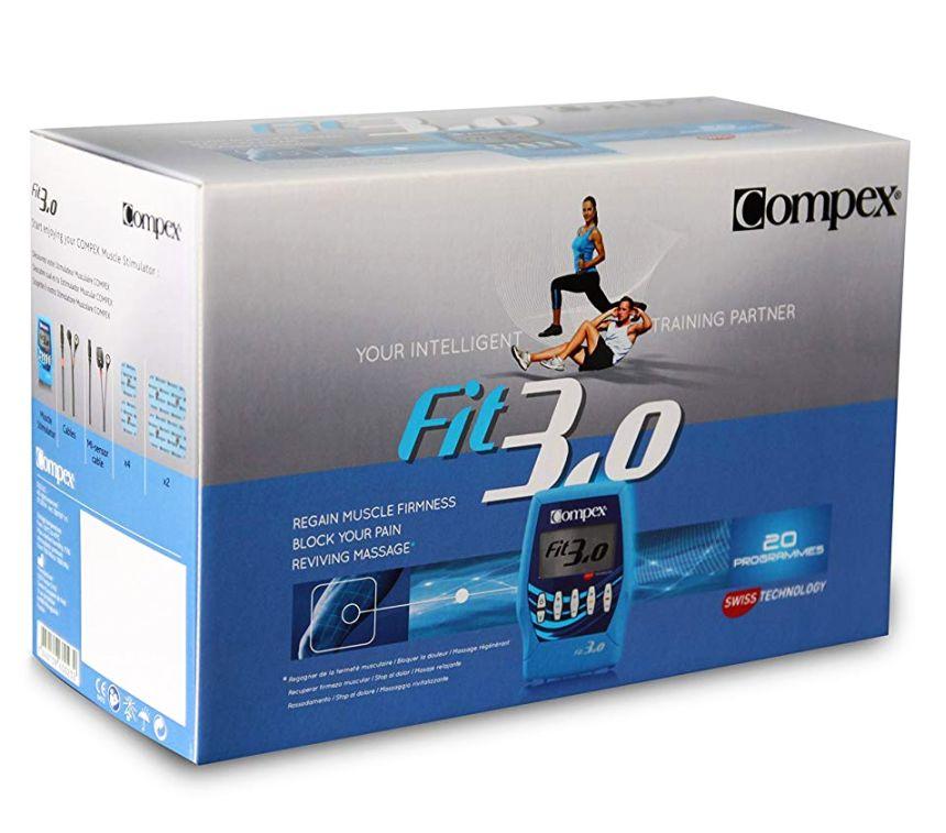 L'elettrostimolatore Compex FIT 3.0 Muscle Intelligence così come vi arriverà a casa