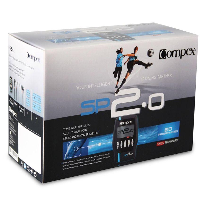La confezione dell'elettrostimolatore Compex SP 2.0 Muscle Intelligence così come vi arriverà a casa