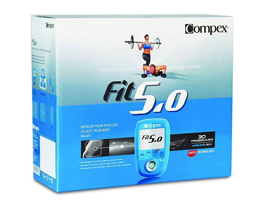 La confezione dell'elettrostimolatore professionale Compex FIT 5.0  così come vi arriverà a casa