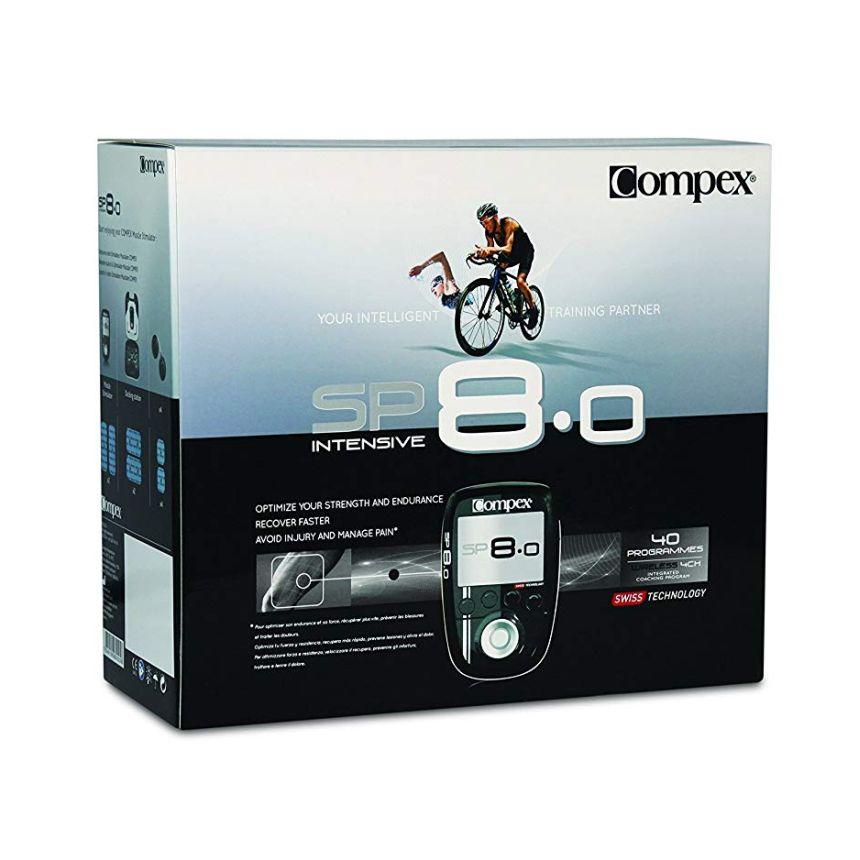 La confezione dell'elettrostimolatore Compex SP 8.0 Muscle Intelligence così come vi arriverà a casa