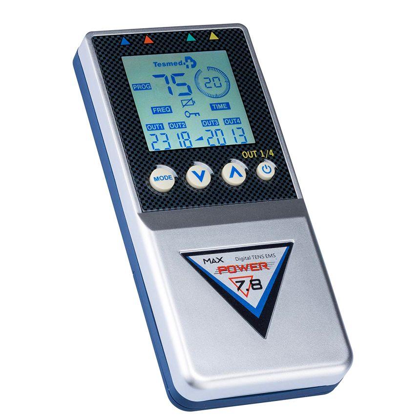 Elettrostimolatore TESMED MAX 7.8 Power per potenziamento e aumento muscolare, con 99 programmi e 125 trattamenti