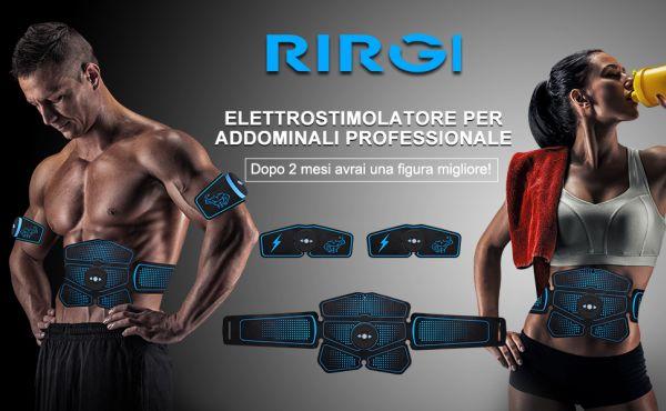 Elettrostimolatore professionale RIRGI per addominali per potenziamento e aumento muscolare a prezzo basso con socnti fino al 70%